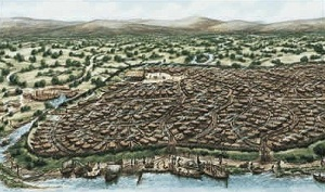 Artist's impression of Viking Dublin