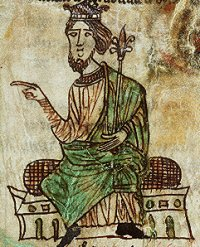 Hywel Dda, King of most of Wales. (National Library of Wales)