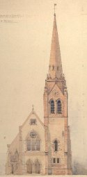 Proposed tower for Auchterless Parish Church (1894) by William Smith (Aberdeen University Library)
