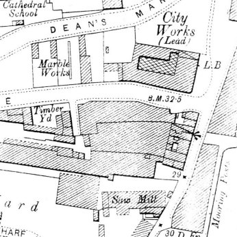 Detail from the OS map of Bristol 2nd edn 1903.
